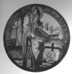 Fig. 9. St Heydrop, 16th-century Continental roundel, reproduced from M & W Drake, 'Saints and their Emblems', London, 1916