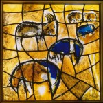Fig. 1. Marc Chagall and Studio Simon Marq Reims, 'Joseph's Tribe', trial stained glass for the synagogue of the Hadassah Ein Kerem Hospital, 1960, private collection. Copyright: Gérard Blot, RMN, Paris - © ProLitteris Zurich