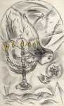 Fig. 4. Marc Chagall, 'The Angel with a Candlestick', definitive dummy for Assy, 1956, private collection. Copyright: Archives Marc and Ida Chagall, Paris - ©ProLitteris Zurich