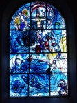 Fig. 10. A Chagall window of the Crucifixion at All Saints, Tudeley (Kent). Copyright: Philip French, 2003–2005.