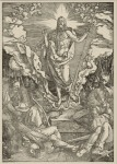 Albrecht Dürer (1471–1528), 'The Resurrection', no. 12 from the Large Passion, c.1498/99, woodcut, 391 x 283 mm, Städel Museum, Frankfurt am Main. Photo: Peter McClennan.