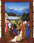 Fig. 1. The True Cross revives a dead man, from the 'Très Riches Heures' of the Duc de Berry