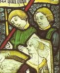 Fig. 6. Baptism from a Seven Sacraments window, Tattershall (Lincs.)