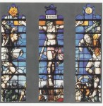 Fig. 1. Crucifixion attributed to Galyon Hone and an anonymous artist (detail), c.1540, stained and painted glass. East window of the choir, King's College Chapel, Cambridge.
