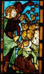 The Antichrist distributes money to a crowd (Frankfurt an der Oder, Marienkirche, sII 2c).