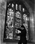 Fig. 12. Ian Tomlinson working at All Saints, North Street, York