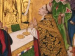 Fig. 10. Damask from the Mass of Saint Hubert, probably 1480–85, by the workshop of the Master of the Life of the Virgin (fl. second half of the 15th century). The National Gallery of London. ©YM