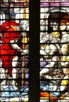 Fig. 2. Window 15, detail of the Harrowing of Hell attributed to James Nicholson, c.1535.