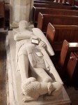Fig. 1. Effigy of Sir Henry Fitzherbert, c.1315: the oldest of the Norbury Fitzherbert monuments