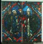Fig. 5. The young king Henry refuses to meet Thomas Becket. Angers, Cathédrale Saint-Maurice, window 108, panel 4. Courtesy of the Centre André-Chastel, Paris.