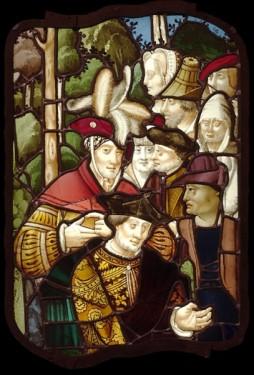 Group of people, c.1530. Bought at public auction in 1996, from an unidentified church in ?Rouen, by a Rouen workshop. Inv. no. 96.5, 70 x 52cm. © Musée départemental des Antiquités de Rouen (Yohann Deslandes).