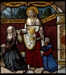 Fig. 6. Gertrude and her daughter Catherine, and their patron St John the Evangelist