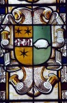Fig. 5. Redenhall, St Mary, north chapel, north windows. Seventeenth-century-style heraldry by S. C. Yarrington, 1825.