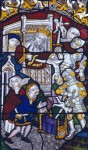 Fig. 6. Felbrigg Hall, great hall, south window, the Massacre of the Innocents, by John Dixon c.1837. This is a copy of the same scene at St Peter Mancroft, Norwich