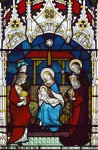 Fig. 3. East Lexham, St Andrew, chancel east window. The Adoration of the Magi, by Clayton & Bell, c.1860–62
