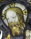 Fig. 1. Detail of Christ's head. © Canterbury Stained Glass Studios
