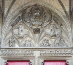 Fig. 3. Christ in Judgement, stone portal, St Nizier, Troyes, France