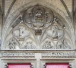 Fig. 3. Christ in Judgement, stone portal, St Nizier, Troyes, France