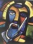 Karl Schmidt-Rottluff (1884–1976), Christus (1912)