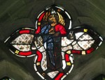 Fig. 3. St Michael Weighing Souls in the south chancel window. © RR