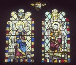 Fig. 1. Browne's Hospital, Audit Room, third south window from the east: King Solomon and a reconstructed figure.