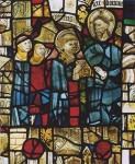 Fig. 2. Christ and St peter from the West Window Glazing of Peterborough Cathedral