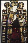 Fig. 6. Beauchamp Chapel, Warwick, Warwickshire, east window: St Thomas Becket with jewelled inserts in his vestments.