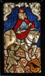 Panel depicting St Martin and the beggar, 1480–90, Central Europe, 64 x 35 cm, Budapest, Museum of Applied Arts, inv. no. 16125. Reproduced by permission of the museum