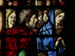 King's College Chapel, Cambridge, window 5: Mary and Joseph. © Painton Cowan