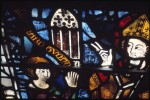 Fig. 2. York Minster, nave, nXXIV 2b: Richard Tunnoc gifting his window to St William, c.1325