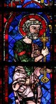 Fig. 2. Chartres Cathedral, window 105: St Peter receiving the keys of the kingdom