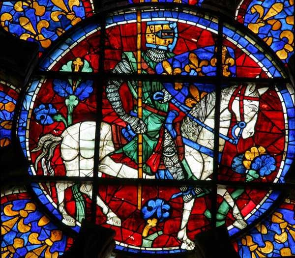 Chartres Cathedral Window 107c The Future Louis VIII On Horseback
