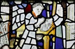 All Saints Church, Crudwell (Wiltshire): detail of Penance from the Seven Sacraments Window, fifteenth century