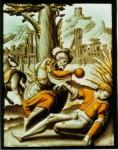Private collection, Germany: 'The Good Samaritan', circle of Jan Swart van Groningen, c.1545
