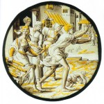 Private collection, Germany: 'The Prodigal Son Chased out of the Brothel', southern Low Countries, c.1540