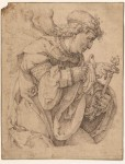 Lucas van Leyden (c. 1494 - 1533), the Archangel Gabriel announcing the Birth of Christ