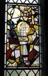 Conisbrough, parish church of St Peter: St Blaise, after damage. ©J. Burton