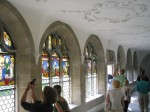CVMA Colloquium delegates inspect the cloister glass at Muri Abbey. Reproduced by kind permission of Michael Burger