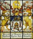 Fig. 1. Merchant Taylors Hall, York: panel with the arms of the Merchant Taylors by Henry Gyles