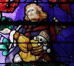 Fig. 5. Beauvais, Saint-Etienne: the middle prophet in the right-hand light of the Tree of Jesse Window
