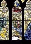 The damaged Adam and Eve window