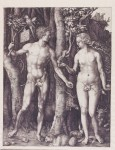 Albrecht Dürer (1471–1528): 'Adam and Eve' (1504), engraving.