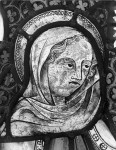 Fig. 1. Bristol Cathedral, Lady Chapel, east window: female figure.