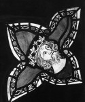 Fig. 10. Lady Chapel, Bristol Cathedral: crowned head from the Tree of Jesse Window