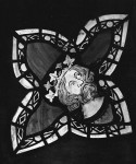 Fig. 9. Lady Chapel, Bristol Cathedral: crowned head from the Tree of Jesse Window
