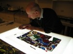 Drew Anderson, The Metropolitan Museum of Art's stained glass conservator, in his workshop