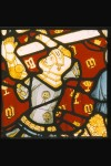 Norwich, St Peter Mancroft, I 3g: the hands of the 'prince of priests' are miraculously stuck to the Virgin's