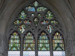 Fig. 2. Consolidated fourteenth-century glass in sIV of the Lady Chapel, Ely Cathedral. © Rosie Mills