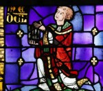 Fig. 1. Raoul de Senlis, a canon of Beauvais Cathedral, donates a lancet window to the church, early 1290s.