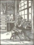 Fig. 1. Sixteenth-century glass painter in his workshop. from the Ständbuch (Book of Trades) published in 1568.